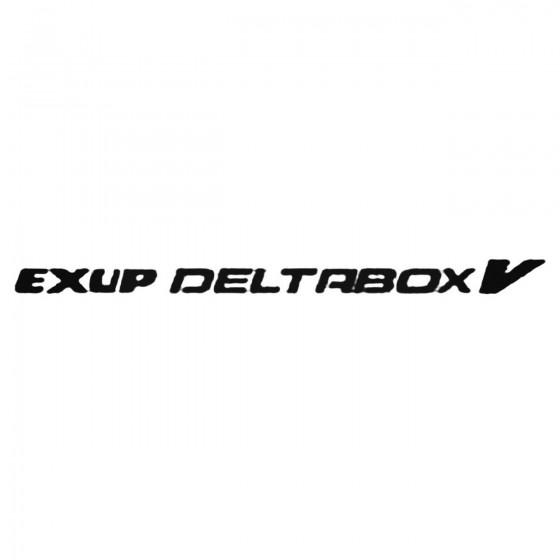 Exup Deltabox V Decal Sticker