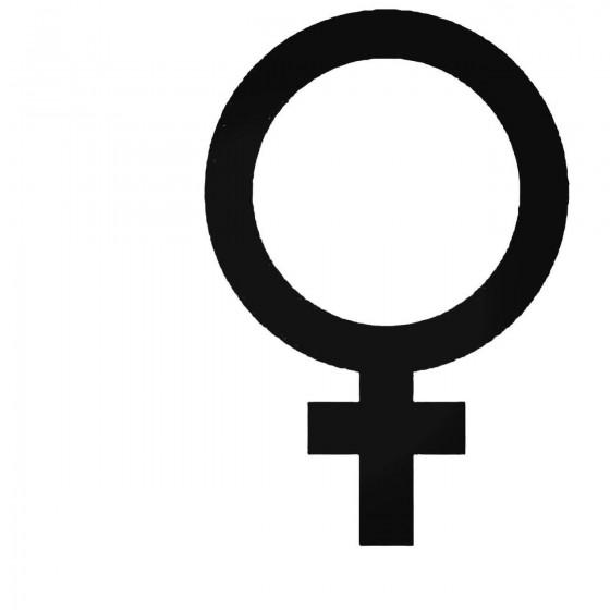 Female Gender Decal Sticker