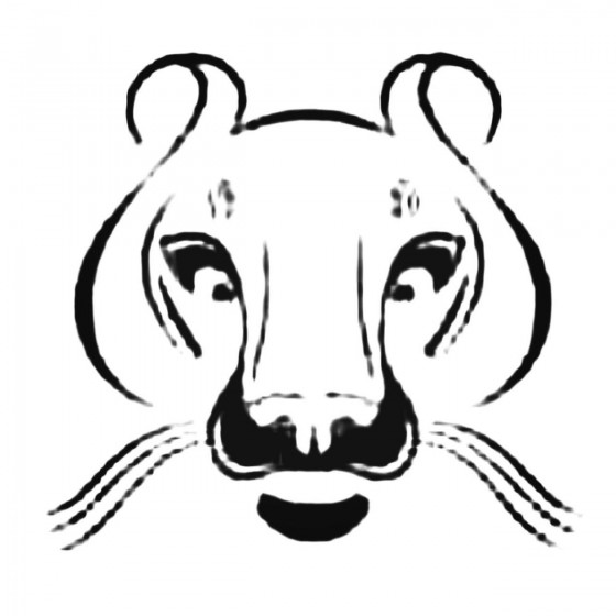 Female Lion Face Decal Sticker
