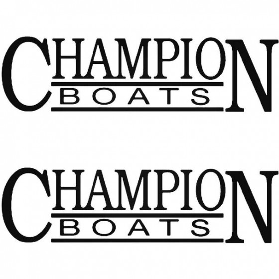 Champion S Boat Kit Decal...