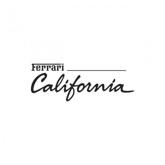 Ferrari California Vinyl...