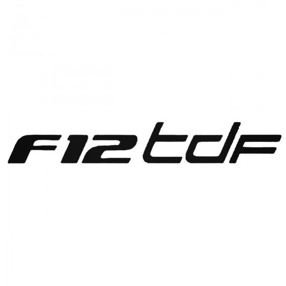 Ferrari F12 Tdf Decal Sticker