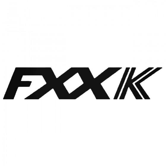 Ferrari Fxxk Decal Sticker