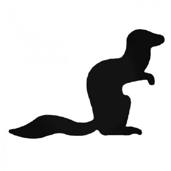 Ferret Crouching Decal Sticker