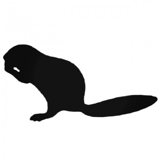 Ferret Eating Decal Sticker