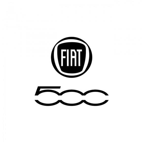 Fiat 500 Logo Vinyl Decal...