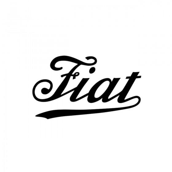 Fiat Ecriture 2 Vinyl Decal...