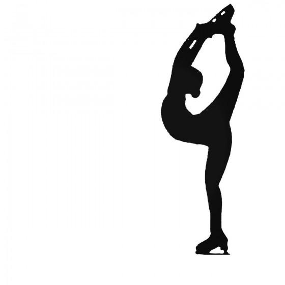 Figure Skater Decal Sticker