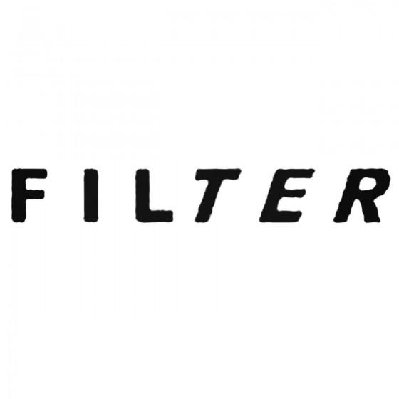 Filter Decal Sticker