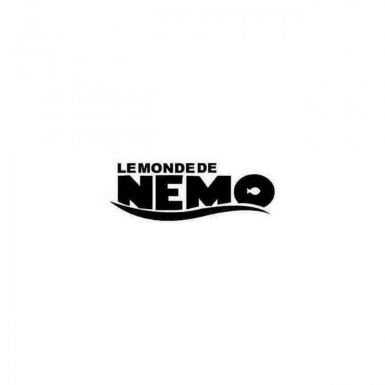 Finding Nemo Decal Sticker
