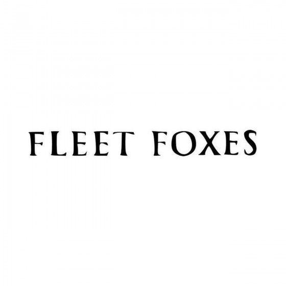 Fleet Foxes Band Logo Vinyl...