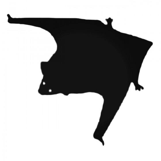 Flying Bat Decal Sticker