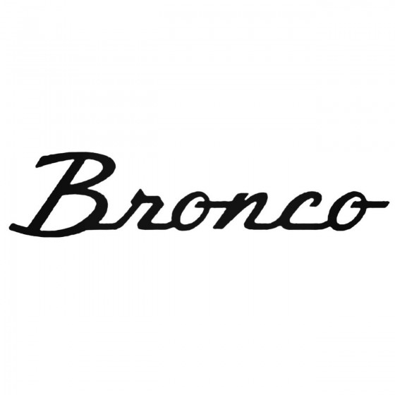 Ford Bronco Decal Sticker