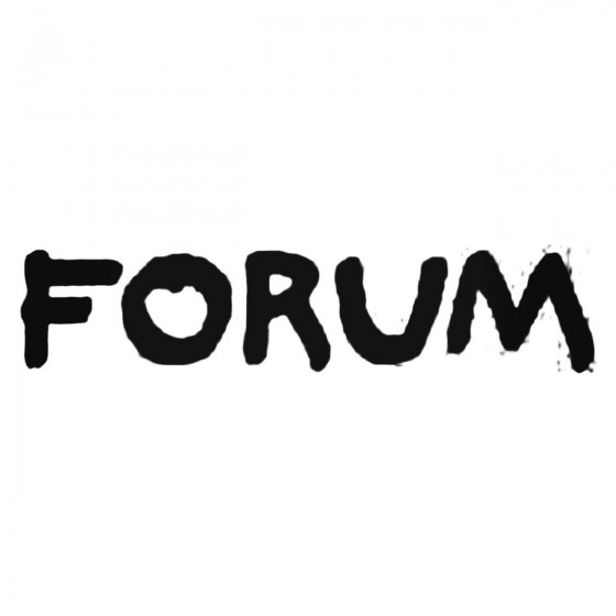Forum Manual Decal Sticker