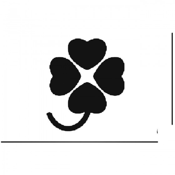 Four Heart Clover Decal