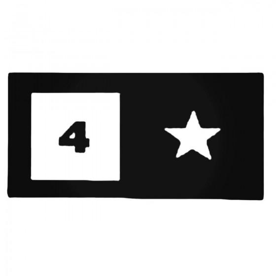 Four Star Decal Sticker