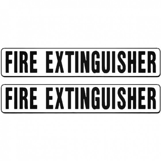 Label Fire Extinguisher...