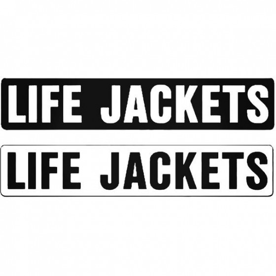 Label Life Jackets Or...