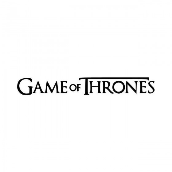 Game Of Thrones Text Logo...