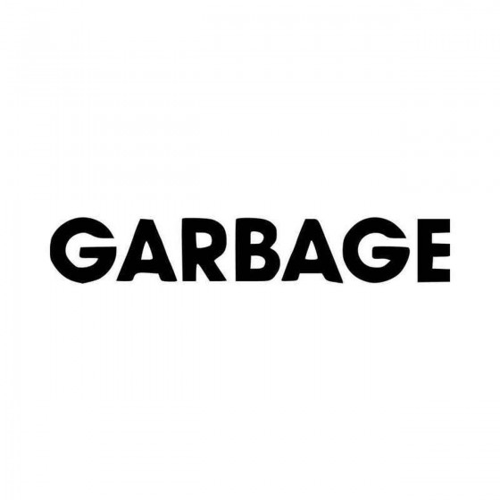 Garbage Band Logo Vinyl...