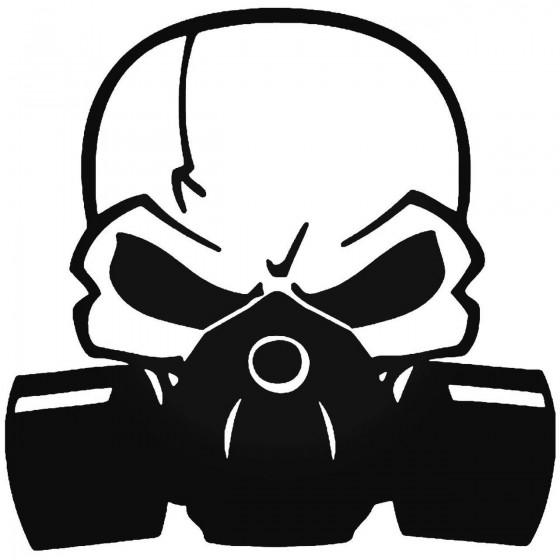 Gas Mask Death Skull 2 Sticker