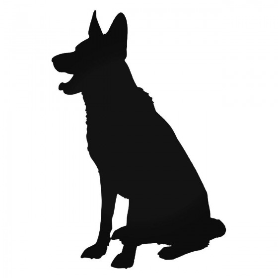 German Shepherd Dog Sitting...