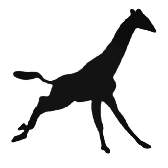 Giraffe Running Decal Sticker