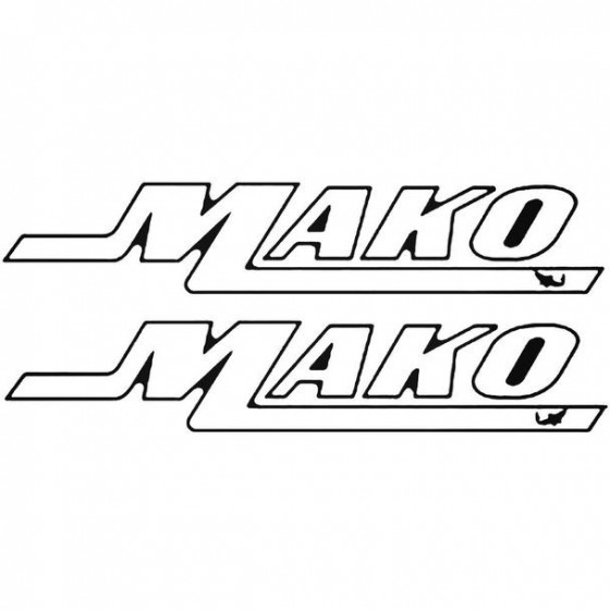 Mako Shark Boat Kit Decal...