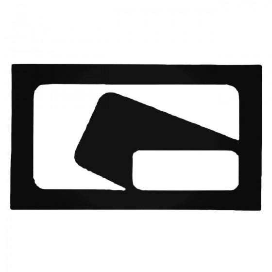 Globe Square Decal Sticker