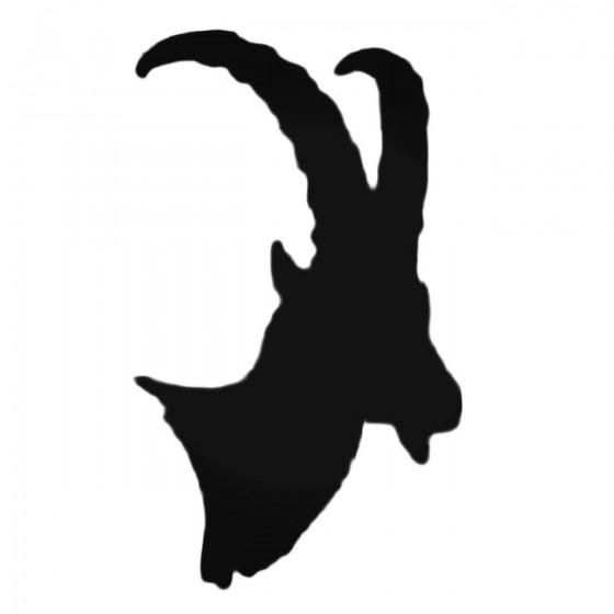 Goat Head Decal Sticker