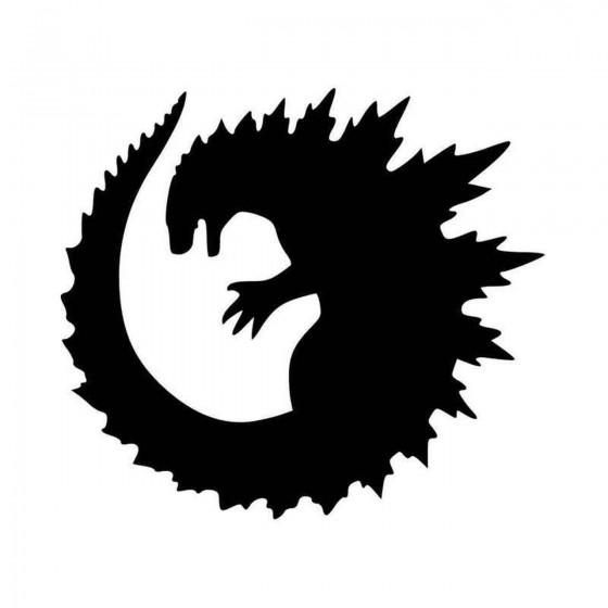 Godzilla Round Vinyl Decal...