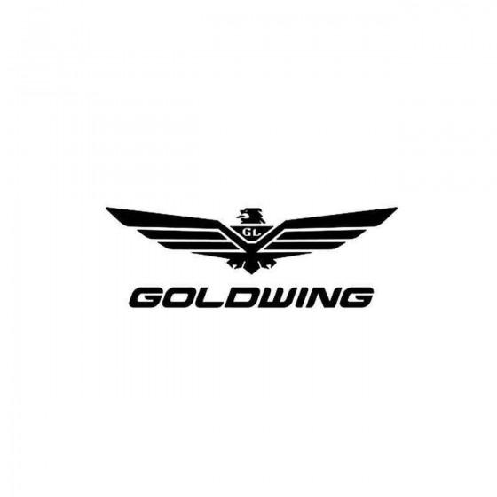 Gold Wing Vinyl Decal Sticker