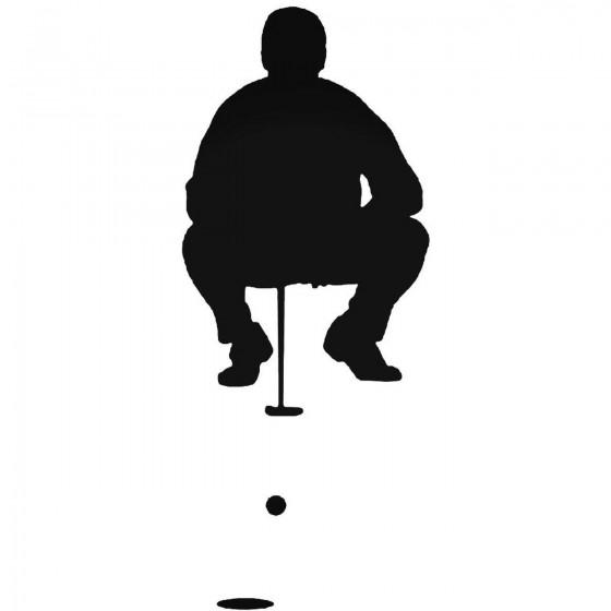Golfing 1 Sticker