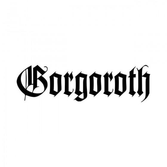Gorgoroth Vinyl Decal Sticker