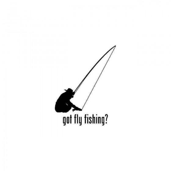 Got Fly Fishing Fish 2 Sticker