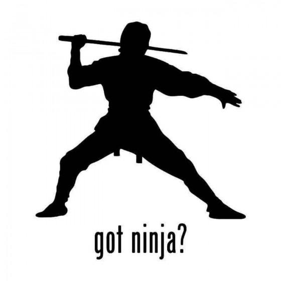 Got Ninja Sword Sticker