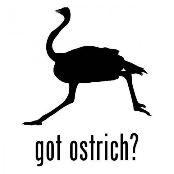 Got Ostrich Bird Sticker