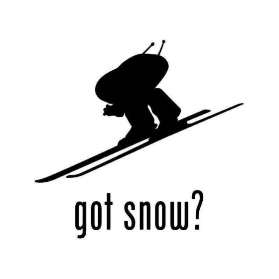 Got Snow Skiing 2 Sticker