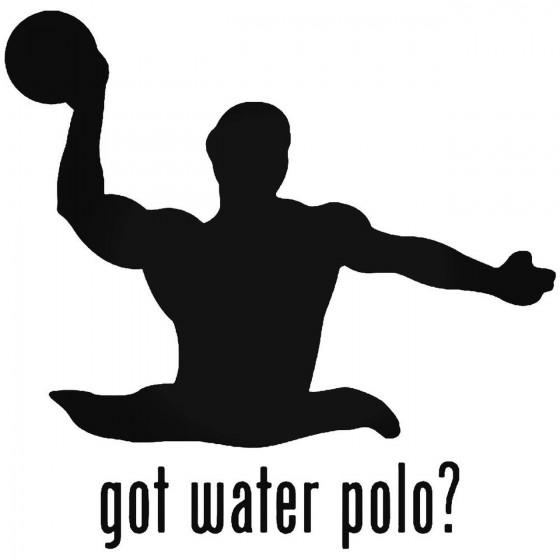 Got Water Polo Sports Sticker