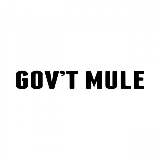 Govt Mule Vinyl Decal Sticker