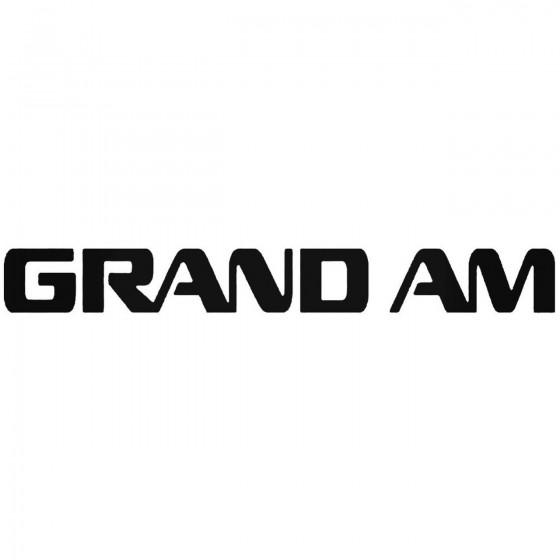 Grand Am Graphic Decal Sticker