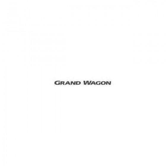 Grand Wagon Decal Sticker