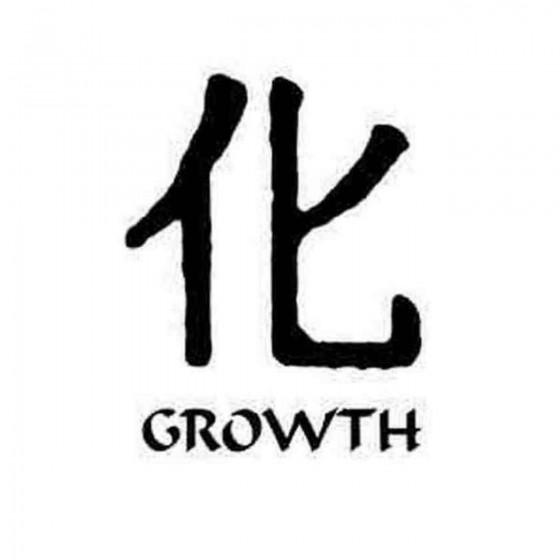 Growth Kanji Symbol Decal...