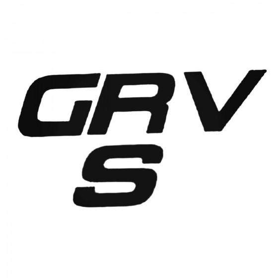 Grv S Decal Sticker