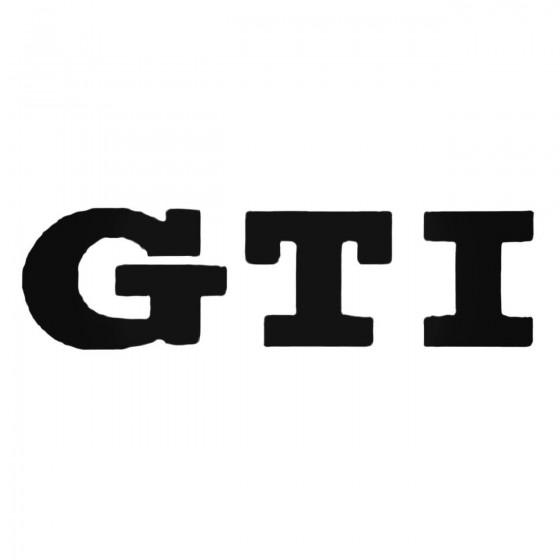 Gti Decal Sticker
