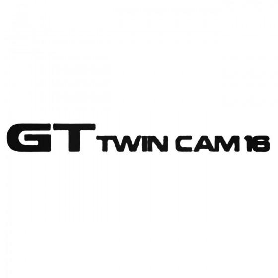 Gt Twin Cam Decal Sticker