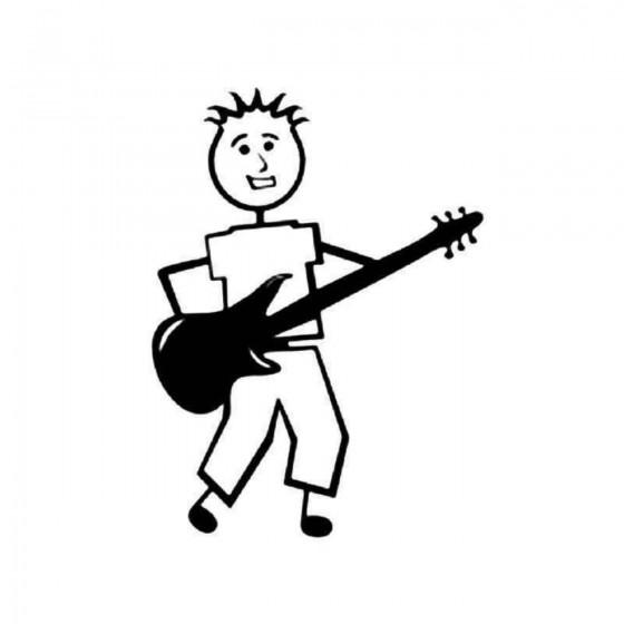 Guitar Player Stick Figure...
