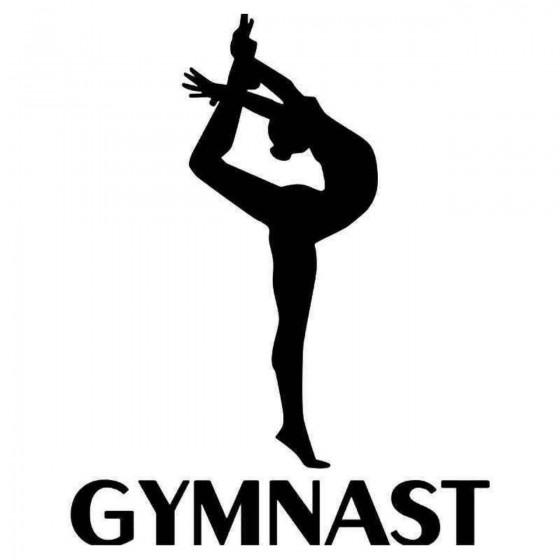 Gymnast Girl Sticker