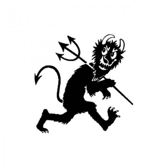 Hairy Devil Decal Sticker