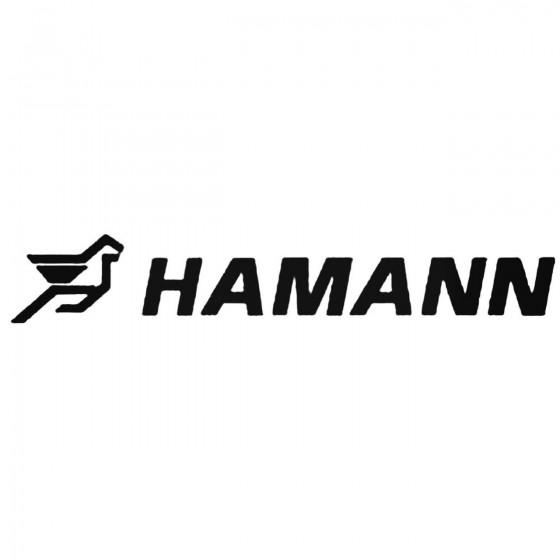 Hamann Aftermarket Decal...